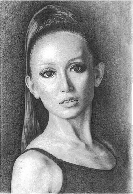 鉛筆肖像画 各種お祝いや御遺影等、肖像画は肖像画のアトリエ久へ御依頼下さい。御写真より美しい肖像