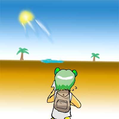 砂漠 カラカラ