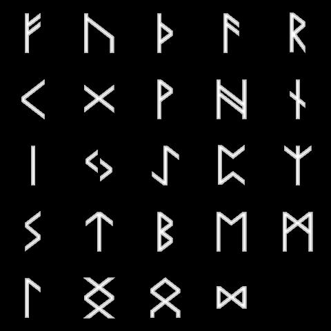 ルーン文字 ルーン文字詳しくはKnowledgeのルーン文字参照。 色調補正をして... Gra