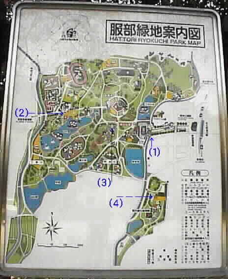 服部緑地公園地図