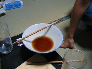 最初のスープの色
